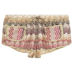 NEW Missoni Signature Chevron Metallic Crochet Knit Hot Pants Shorts