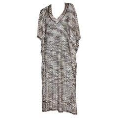 NEW Missoni Signature Chevron Zigzag Crochet Knit Maxi Kaftan Dress