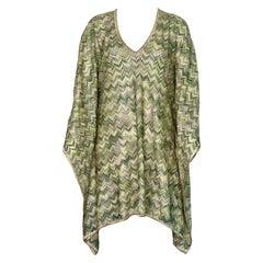 NEW Missoni Signature Chevron Zigzag Metallic Lurex Kaftan Tunic Dress Coverup