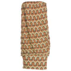NEW Missoni Strapless Multicolor Signature Chevron Crochet Knit Cocktail Dress