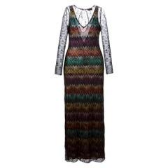 NEW Missoni Zig Zag Crochet Sheer Dress IT42US 6
