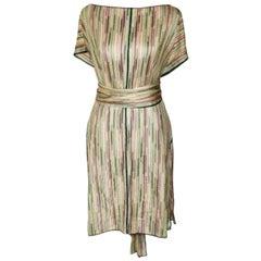NEW Missoni Zigzag Crochet Knit Dress Tunic Top Kaftan Cover Up with Belt/Scarf