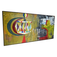 New Modern Art Movement Abstract Painting by John Anderson, 1965
