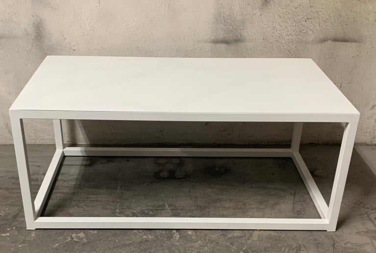 New Modern Iron Rectangular Table, Indoor or Outdoor For Sale 6