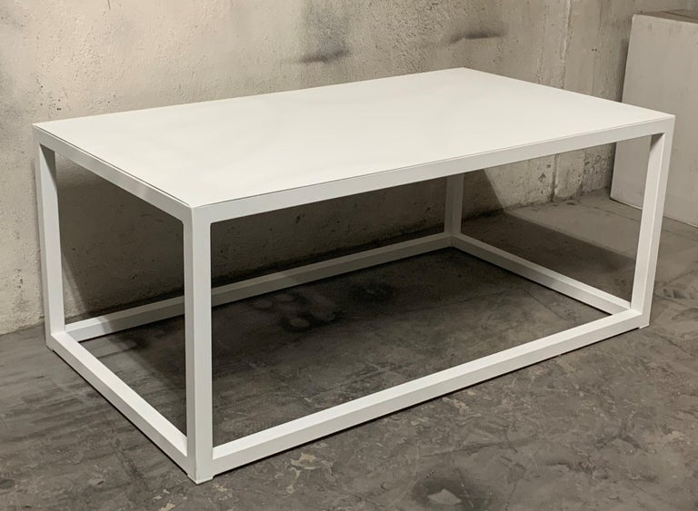 New Modern Iron Rectangular Table, Indoor or Outdoor For Sale 7