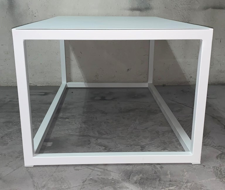 New Modern Iron Rectangular Table, Indoor or Outdoor For Sale 8