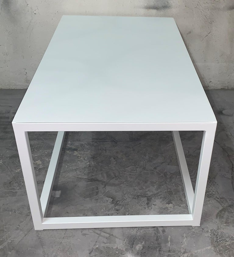 New Modern Iron Rectangular Table, Indoor or Outdoor For Sale 9