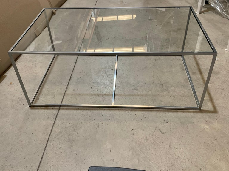 New Modern Iron Rectangular Table, Indoor or Outdoor In New Condition For Sale In Miami, FL