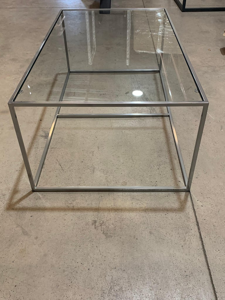Contemporary New Modern Iron Rectangular Table, Indoor or Outdoor For Sale