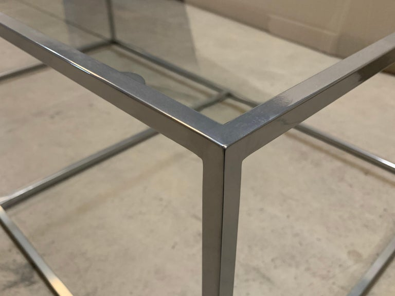 New Modern Iron Rectangular Table, Indoor or Outdoor For Sale 3