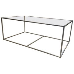 New Modern Iron Rectangular Table, Indoor or Outdoor