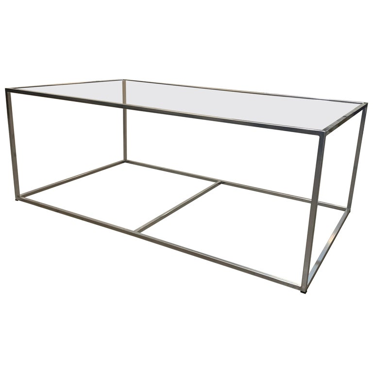 New Modern Iron Rectangular Table, Indoor or Outdoor For Sale