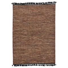 New Modern Lake House Cabin Style Dhurrie Flat-Weave Rug