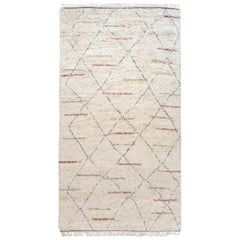 New Modern Moroccan Tribal Handmade Wool Rug