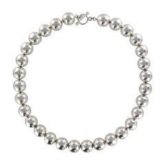 New Modern Silver Pearls Choker Necklace