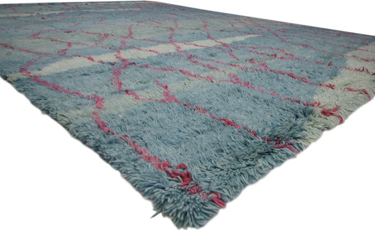 Hand-Knotted New Moroccan Style Rug with Modern Contemporary Abstract Design For Sale