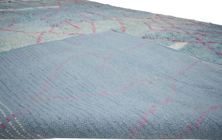New Moroccan Style Rug with Modern Contemporary Abstract Design In Excellent Condition For Sale In Dallas, TX