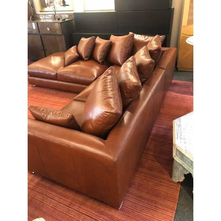 Sectional Sofa Sale Los Angeles: New Nathan Anthony Custom Folio Leather Sectional For Sale