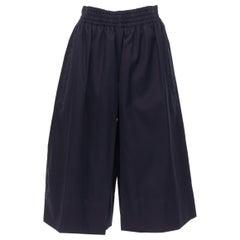 new OLD CELINE PHOEBE PHILO 100% cotton navy wide leg culotte shorts FR34 XS