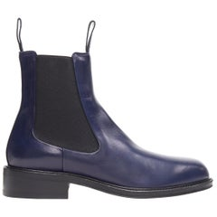 new OLD CELINE PHOEBE PHILO navy blue leather pull on chelsea ankle boot EU40