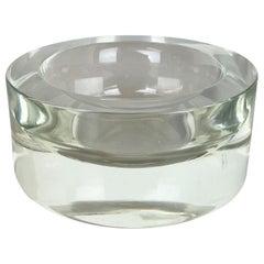 New Old Stock 2,6kg Lucid Bowl Murano Glass Seguso Vetri d'Arte, Italy, 1970 No1