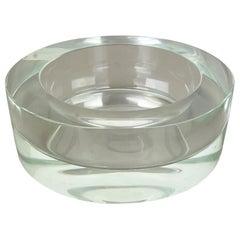 New Old Stock 3,1kg Lucid Bowl Murano Glass Seguso Vetri d'Arte, Italy, 1970 No2