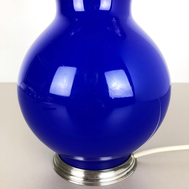 New Old Stock Opaline Murano Glass Table Light by Cenedese Vetri, Italy, 1960 3