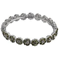 New Olive Peridot Blossom Gemstone Wraparound Bracelet