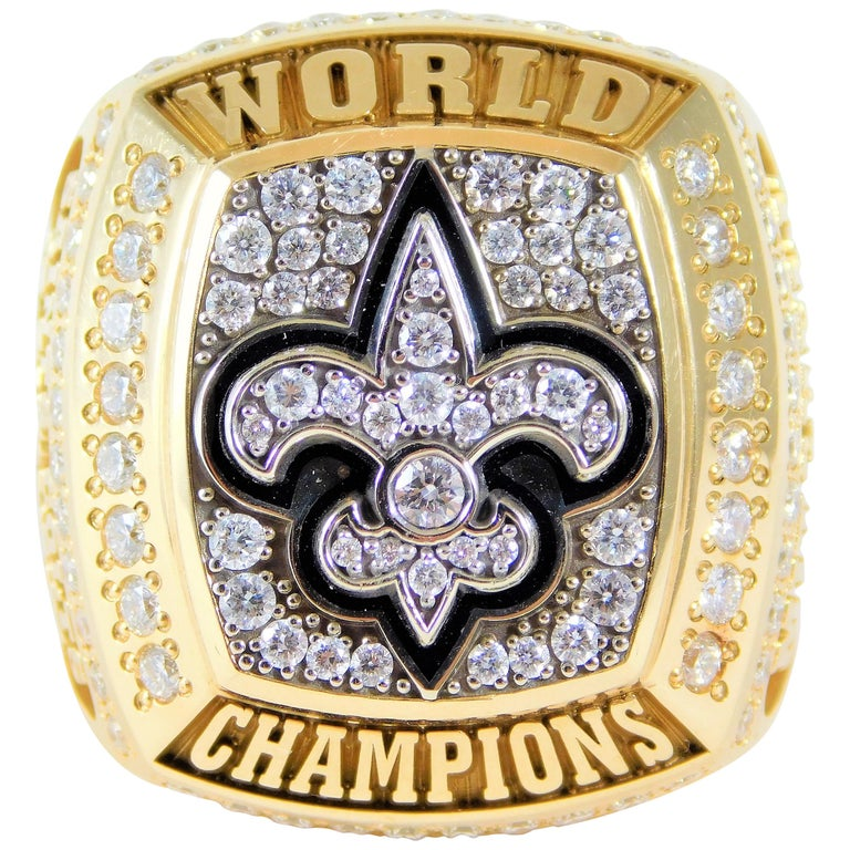 promo code eca5f e81cd New Orleans Saints Super Bowl Ring