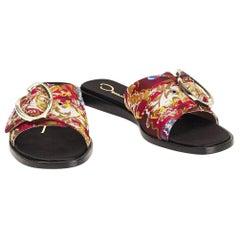 New Oscar De La Renta 2019 Gigi & Bella Hadid Sandals Flats Slides Sz 38 $675