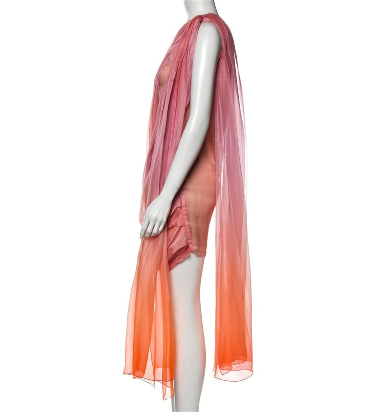 New Oscar De La Renta 2020 Silk AD Runway Dress $4690 W Tags 4 For Sale 10