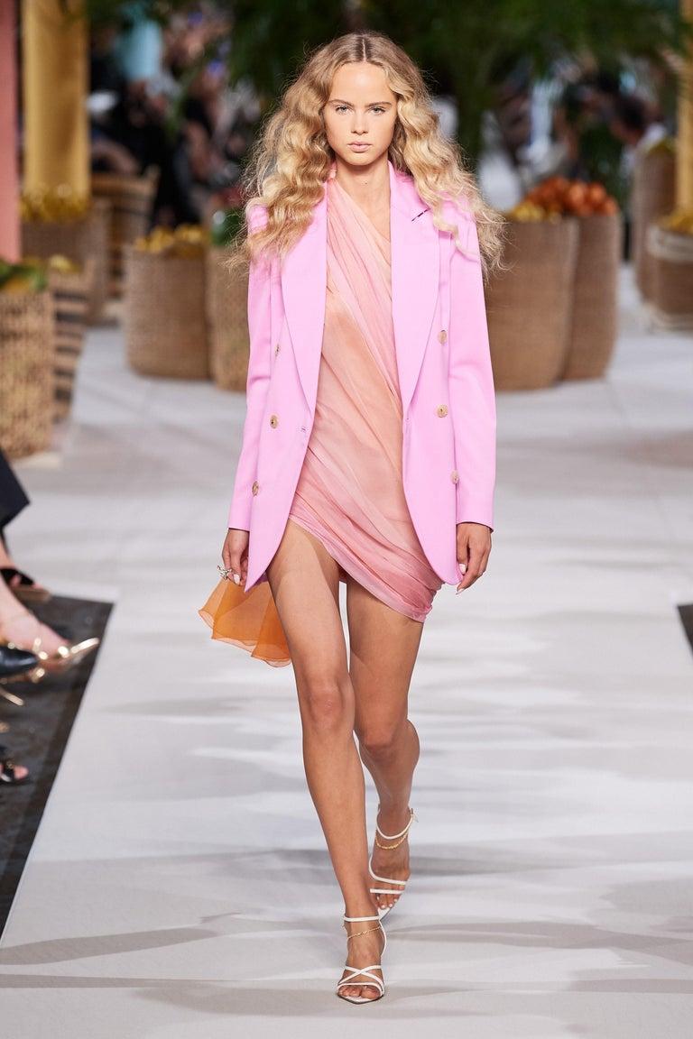 New Oscar De La Renta 2020 Silk AD Runway Dress $4690 W Tags 4 For Sale 13