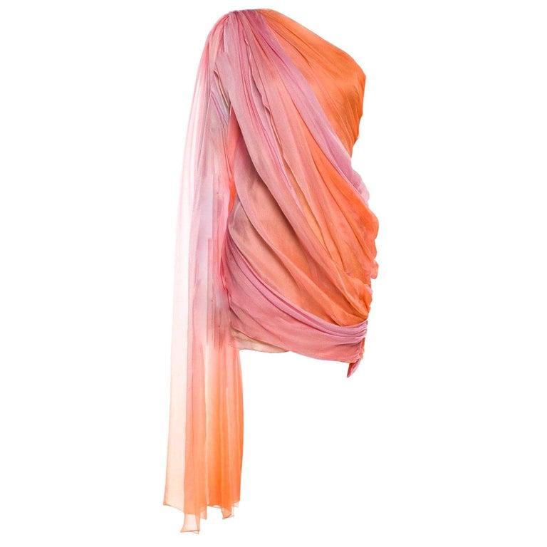 New Oscar De La Renta 2020 Silk AD Runway Dress $4690 W Tags 4 For Sale