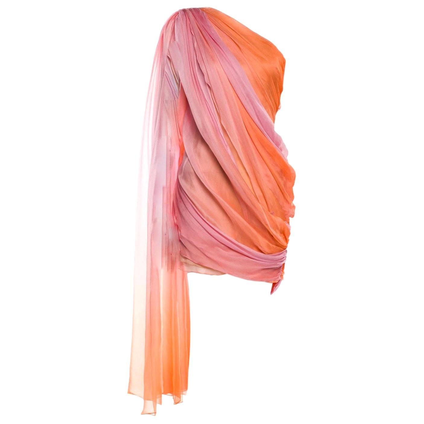 New Oscar De La Renta 2020 Silk AD Runway Dress $4690 W Tags 6