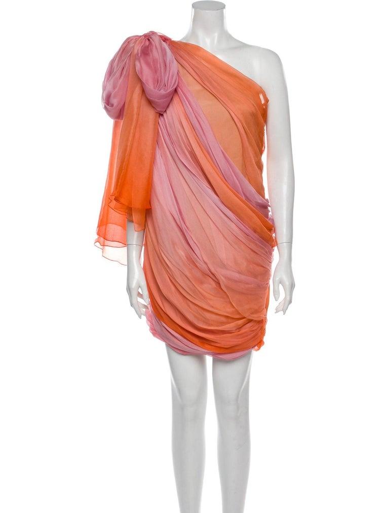 New Oscar De La Renta 2020 Silk AD Runway Dress $4690 W Tags 8 For Sale 5