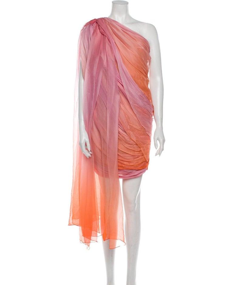 New Oscar De La Renta 2020 Silk AD Runway Dress $4690 W Tags 8 For Sale 6