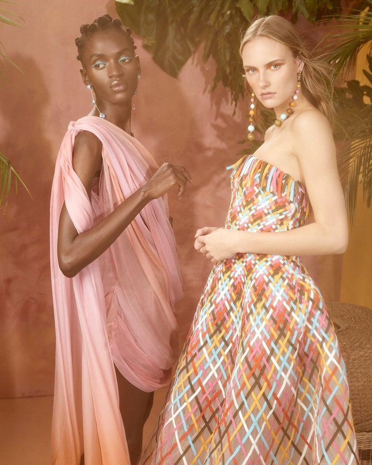New Oscar De La Renta 2020 Silk AD Runway Dress $4690 W Tags 8 For Sale 7