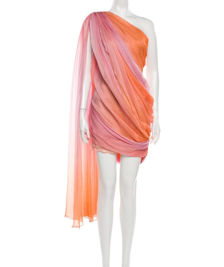 New Oscar De La Renta 2020 Silk AD Runway Dress $4690 W Tags 8 For Sale 8