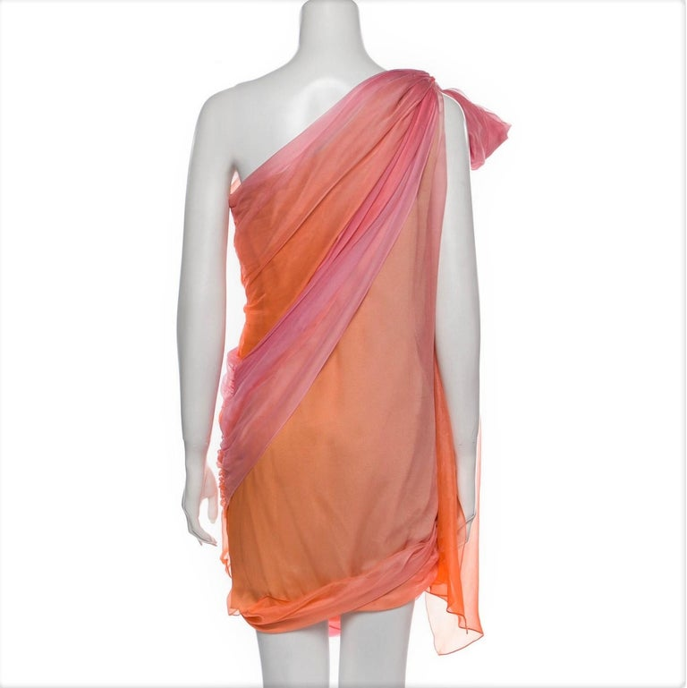 New Oscar De La Renta 2020 Silk AD Runway Dress $4690 W Tags 8 For Sale 11