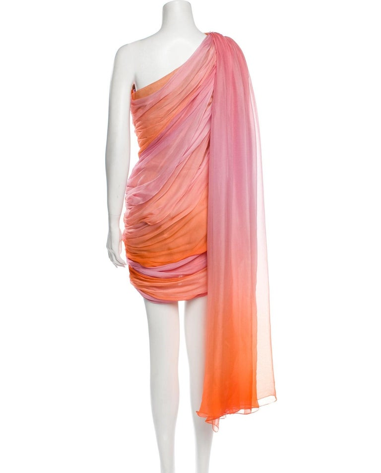 New Oscar De La Renta 2020 Silk AD Runway Dress $4690 W Tags 8 For Sale 12