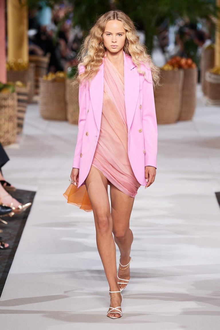 New Oscar De La Renta 2020 Silk AD Runway Dress $4690 W Tags 8 For Sale 13