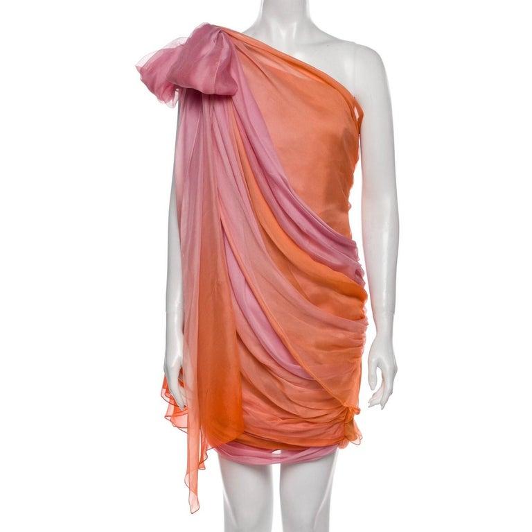 New Oscar De La Renta 2020 Silk AD Runway Dress $4690 W Tags 8 In New Condition For Sale In Leesburg, VA