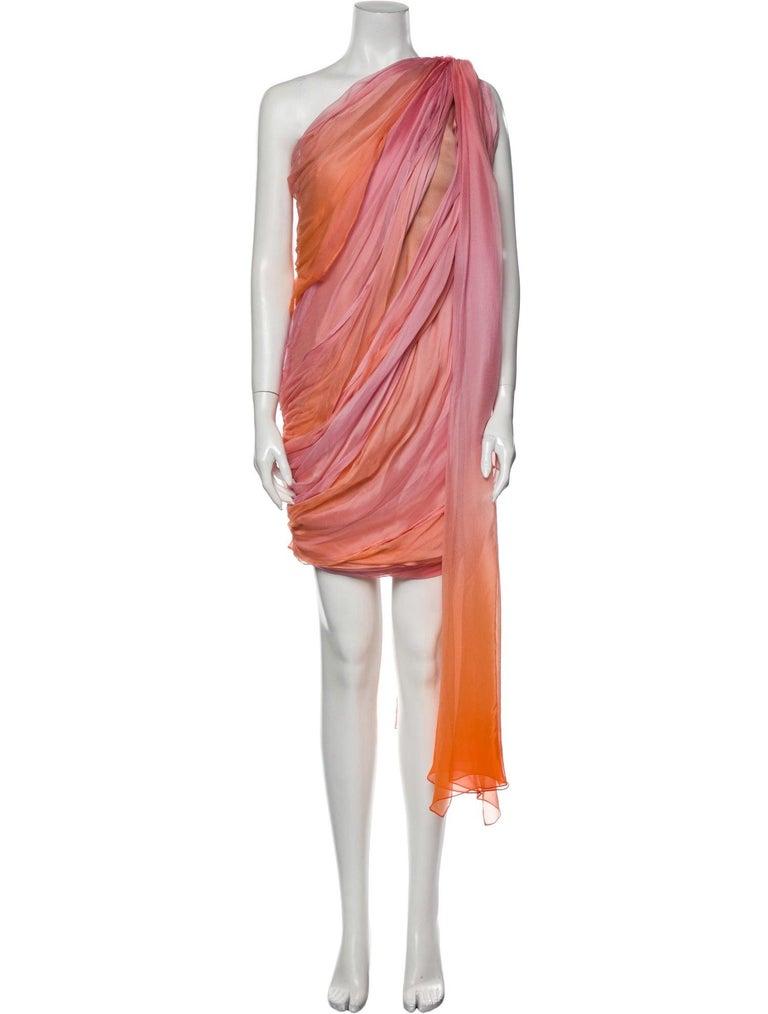 New Oscar De La Renta 2020 Silk AD Runway Dress $4690 W Tags 8 For Sale 1