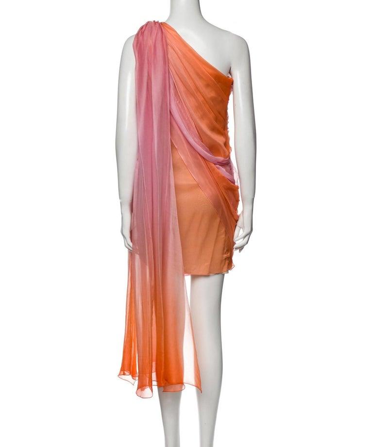 New Oscar De La Renta 2020 Silk AD Runway Dress $4690 W Tags 8 For Sale 2