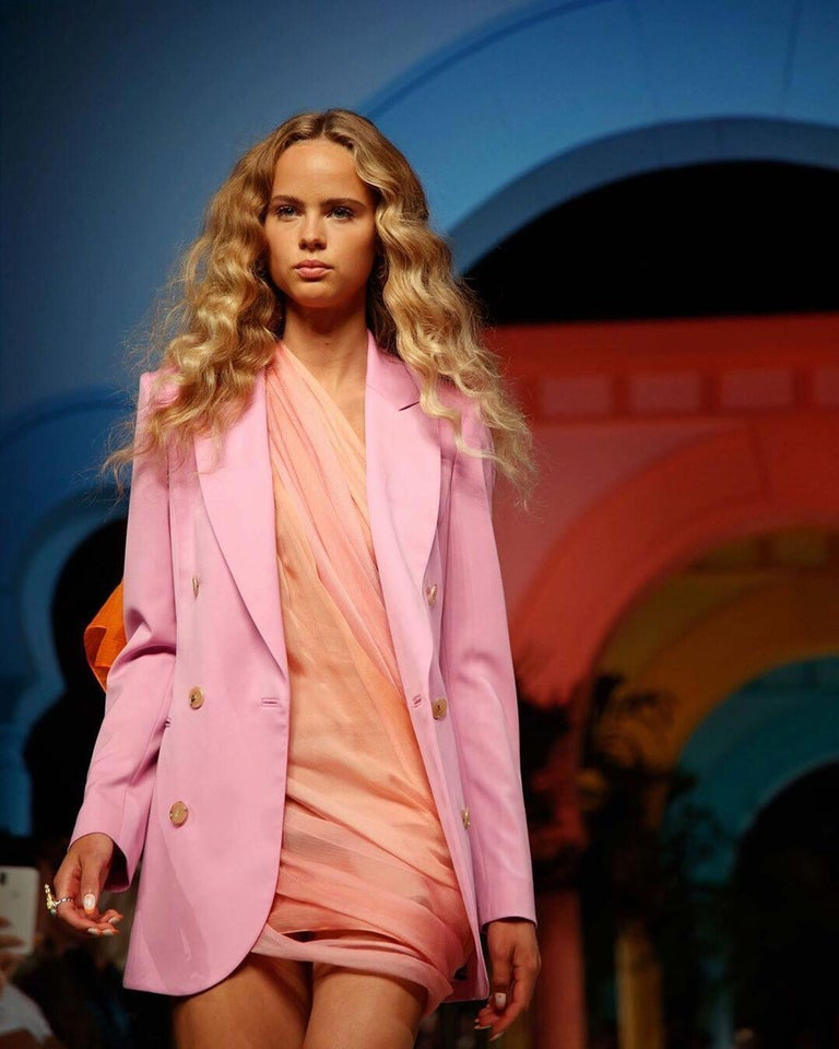 New Oscar De La Renta 2020 Silk AD Runway Dress $4690 W Tags 8 For Sale 4