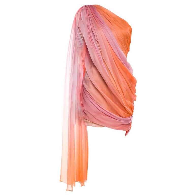 New Oscar De La Renta 2020 Silk AD Runway Dress $4690 W Tags 8 For Sale
