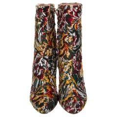 New Oscar De La Renta Fall 2019 Brocade Booties Boots Size 37 $1525