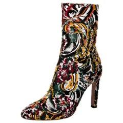 New Oscar De La Renta Fall 2019 Brocade Booties Boots Size 39 $1525