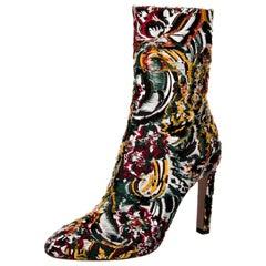 New Oscar De La Renta Fall 2019 Brocade Booties Boots Size 39.5 $1525