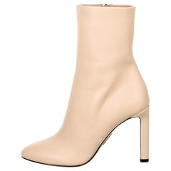 New Oscar De La Renta Fall 2019 Gigi Hadid Leather Booties Boots Size 37 $1225